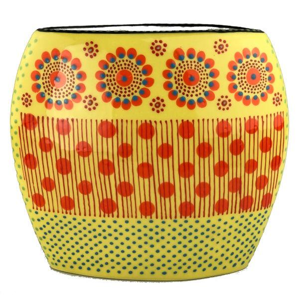 Potterswork Flat Vase - gelb-orange