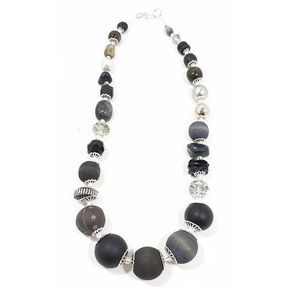 Halskette Floral Glam BLACK CRYSTAL