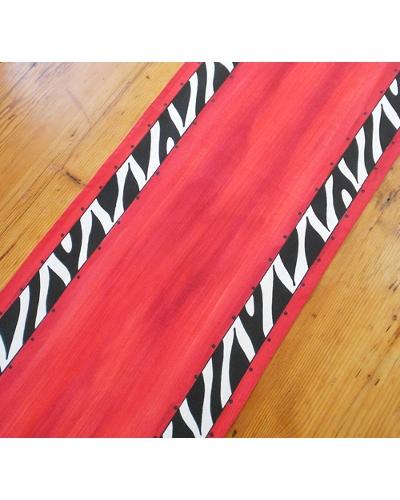 """Tischläufer """"Red Zebra"""""""