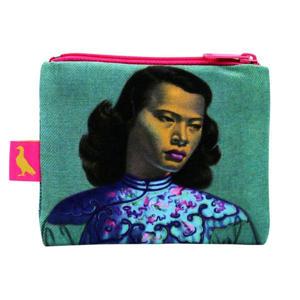 Vladimir Tretchikoff Coin Purse CHINESE GIRL türkis