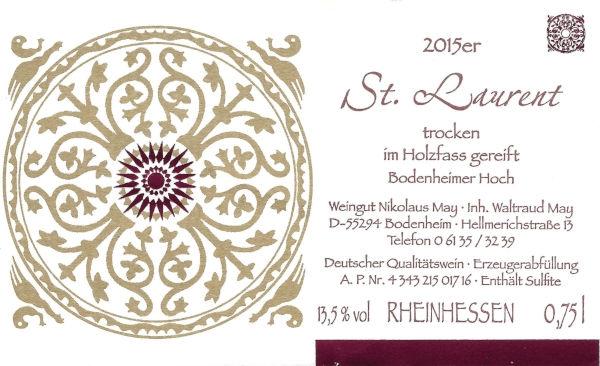 Weinhaus May St. Laurent 2015