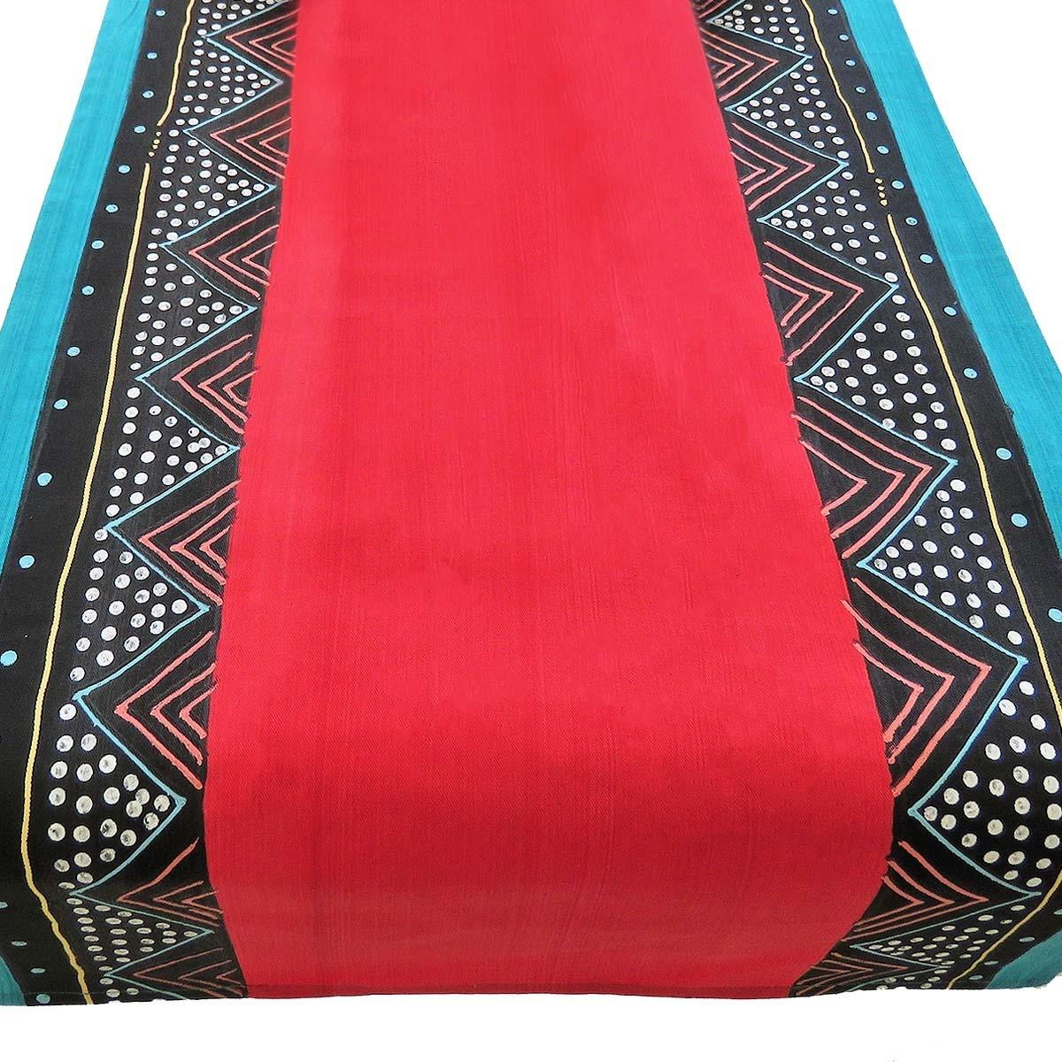 """Tischläufer """"Ndebele Red"""" (200 cm)"""