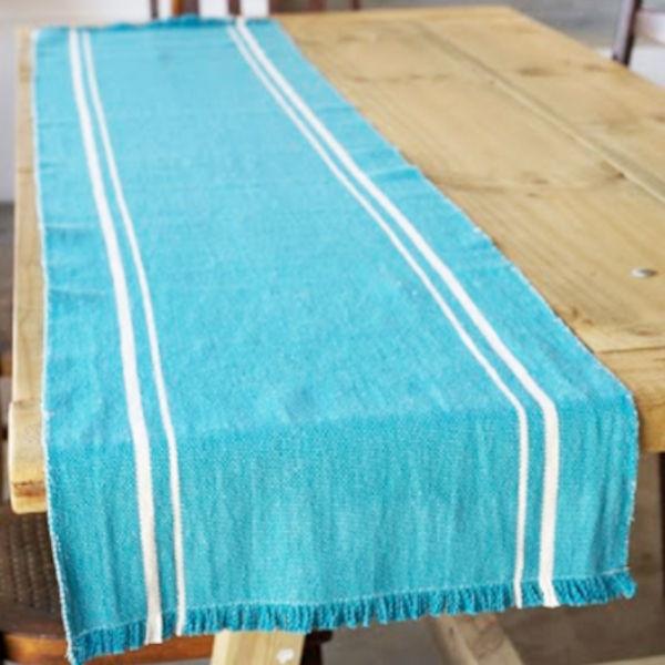 Barrydale Hand Weavers Tischläufer TEAL