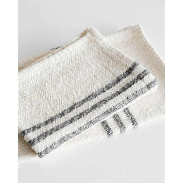 Barrydale Hand Weavers Country Towel - small SOE - CHARCOAL
