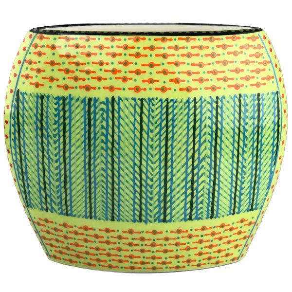 Potterswork Flat Vase - lindgrün