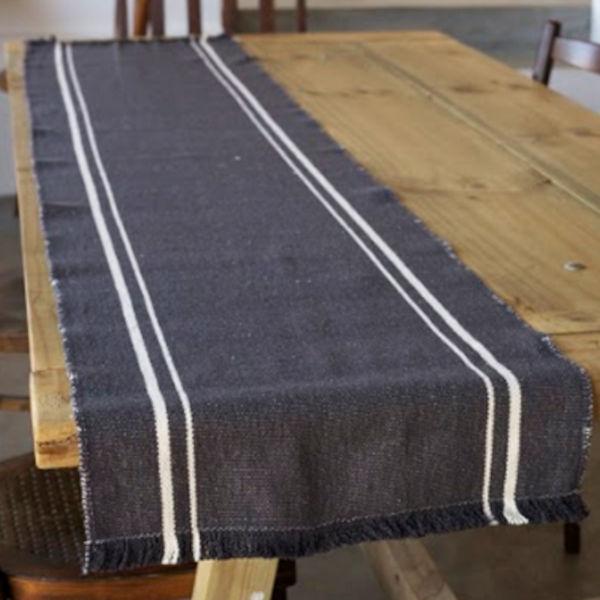 Barrydale Hand Weavers Tischläufer CHARCOAL 120x41cm