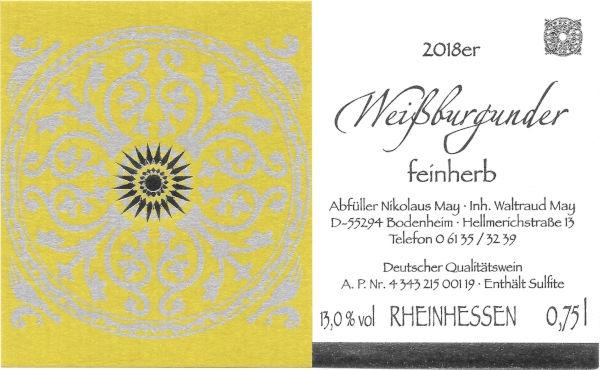 Weinhaus May Weißburgunder 2018 - feinherb