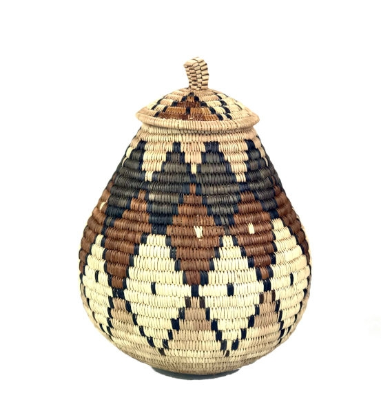 Ilala Weavers Lidded Basket small