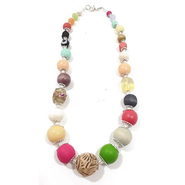 Halskette Floral Glam PASTEL NEON