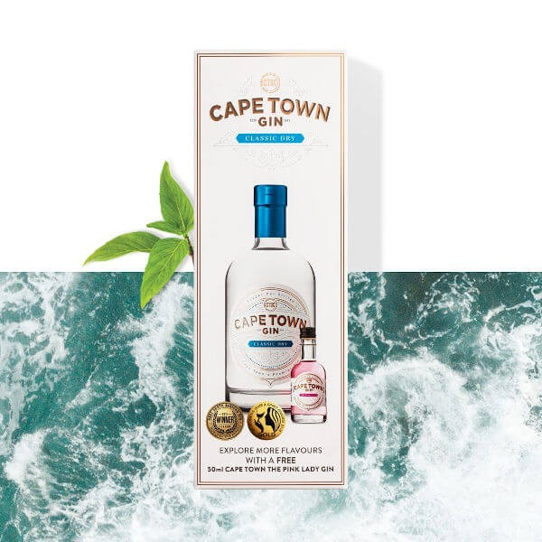 Cape Town Classic Dry Gin - Jubiläums-Box inkl. Gratis-Mini (Limited Edition)