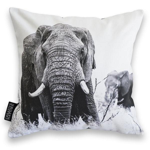 "Creative Nature Kissenbezug ""Elephant Duo"""