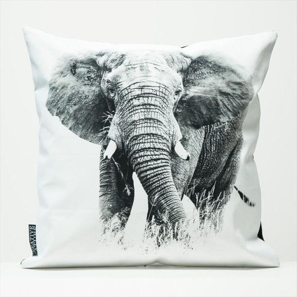 "Creative Nature Kissenbezug ""Elephant Front"""